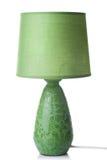 Grüne Schreibtischlampe getrennt Lizenzfreie Stockfotografie