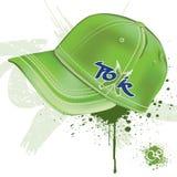 Grüne Schutzkappe lizenzfreie abbildung