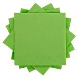 Grüne Serviette des quadratischen Papiers (Gewebe) Stockbilder