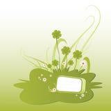 Grüne Shamrockabbildung Lizenzfreie Stockfotografie