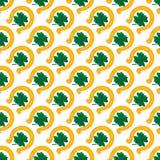 Grüne Shamrockblätter und -hufeisen Tageshintergrund Str Auch im corel abgehobenen Betrag Stockbild