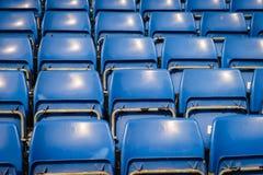 Grüne Sitze des Stadions Lizenzfreie Stockfotografie