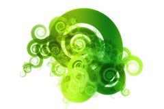 Grüne Spektrum-Farben-Mischungs-Auszugs-Auslegung Backgro Lizenzfreie Stockfotografie