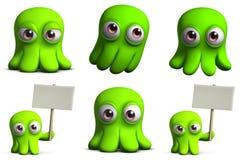 Grüne Spielzeugkrake stock abbildung
