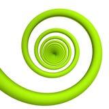 Grüne Spirale Stockfoto