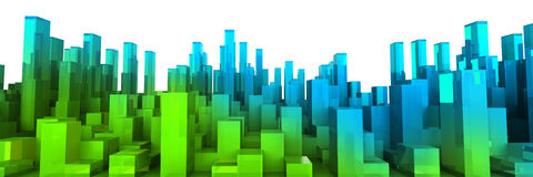 Grüne Stadt Stockfotos
