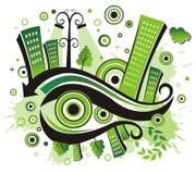 Grüne Stadt. Stockfoto
