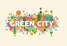Grüne Stadtkonzeptabbildung Lizenzfreie Stockfotografie
