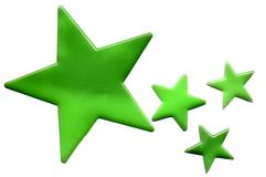 Grüne Sterne vektor abbildung