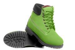 Grüne Stiefel Winkelsicht Lizenzfreie Stockbilder