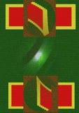Grüne Strahlen Stockbild