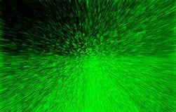 Grüne Streifen auf einem schwarzen Hintergrund Stockbilder