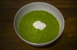 Grüne Suppe Lizenzfreie Stockbilder
