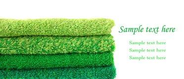Grüne Tücher Stockbild