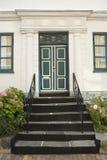 Grüne Tür Stockfotografie