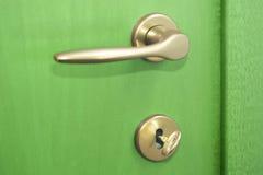 Grüne Tür Stockfoto