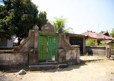 Grüne Tür Lombok Indonesien Lizenzfreie Stockfotos