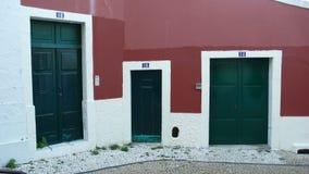 Grüne Türen Stockfotos