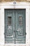 Grüne Türen Stockfotografie