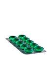 Grüne Tabletten. Lizenzfreies Stockbild