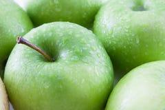 Grüne Tapete der Äpfel Stockfotografie