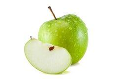 Grüne Tapete der Äpfel Stockbild