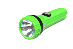 Grüne Taschenlampe Lizenzfreie Stockfotografie