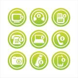 Grüne Technologie mit Pfeilzeichen lizenzfreie abbildung