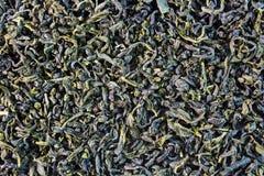 Grüne Teeblätter Stockbild