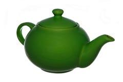 Grüne Teekanne Stockfotos
