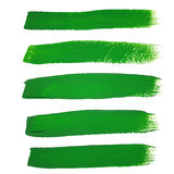 Grüne Tintenbürstenanschläge Lizenzfreies Stockbild