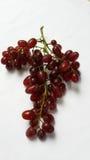 Grüne Traubenfrüchte mit Blättern Lizenzfreie Stockfotos