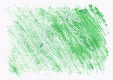 Grüne trockene horizontale gezeichneter Hintergrund des Aquarells Hand Schöne diagonale harte Anschläge des Pinsels Stockfotografie