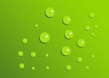 Grüne Tropfen Lizenzfreie Stockfotos