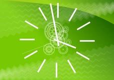 Grüne Uhr Stockfotos