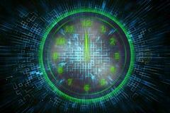 Grüne Uhr Digital Lizenzfreie Stockbilder