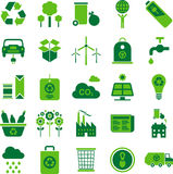Grüne Umgebung und bereiten Ikonen auf Lizenzfreies Stockbild