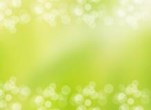 Grüne Umwelt des Frühlinges sprudelt Fahne und Grenze Stockbild