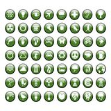 Grüne Umweltikonen Lizenzfreie Stockfotografie