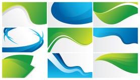 grüne und blaue abstrakte Hintergründe Lizenzfreie Stockfotografie