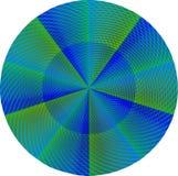 Grüne und blaue Mandala Stockbild