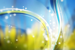 Grüne und Blauwellen Lizenzfreie Stockfotos