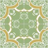 Grüne und gelbe Fliese Stockbild