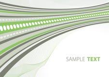 Grüne und graue techno Schablone Lizenzfreie Stockbilder