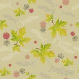 Grüne und rosa Blätter des Herbstes Stockfoto