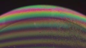 Grüne und rosa Blase stock footage