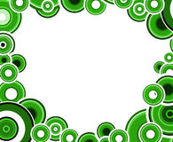 Grüne und schwarze Kreise Stockfotografie