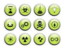 Grüne und schwarze Wissenschafts-Tasten Lizenzfreie Stockfotos