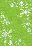 Grüne und weiße Blumen Lizenzfreies Stockfoto