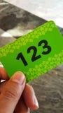 Grüne Visitenkarte Lizenzfreie Stockfotografie